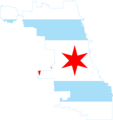 Flag map of Chicago.png