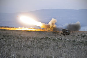 Flickr - Israel Defense Forces - The Israeli Developed MLRS Launcher in Action.jpg
