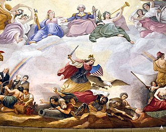 The Apotheosis of Washington - Image: Flickr US Capitol Apotheosis of Washington, War