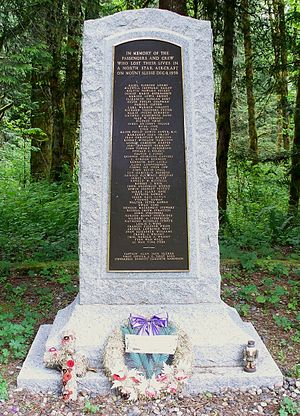 Trans-Canada Air Lines Flight 810 - A memorial to the passengers and crew of Flight 810 located on Slesse Road, Chilliwack, British Columbia