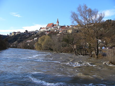 Flood in 2006 Flood in Znojmo (2006) 1.jpg