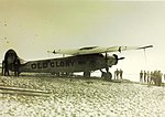 Fokker F.VIIa Old Glory on beach (8091746447).jpg