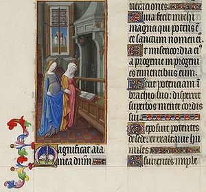 Magnificat - The Visitation in the Book of Hours of the Duc de Berry; the Magnificat in Latin