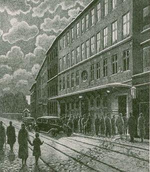 Folketeatret, Copenhagen - Folketeatret in 1857
