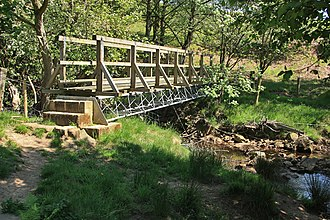 River Riccal - Image: Footbridge over the river Riccal geograph.org.uk 1332249