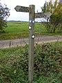 Footpath signpost on Flixton Airfield - geograph.org.uk - 2445521.jpg