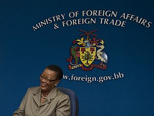 Foreign relations of Barbados - Maxine McClean is the Minister of Foreign Affairs of Barbados