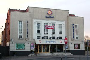 Locally listed buildings in Crawley - The former Embassy cinema (pictured in 2008) was added to the local list in 2010 but has since been demolished.