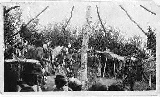 Fort Hall Reservation. Shoshone Indian Sun Dance - NARA - 298649