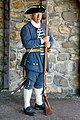 Fortress Lousbourg DSC02244 - Guard Outside the Soldier's Guard Room (8176060009).jpg
