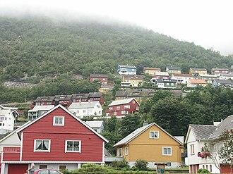 Høyanger - View of the village of Høyanger