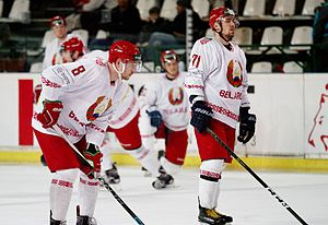 Belarus men's national ice hockey team - Belarus players in 2017.