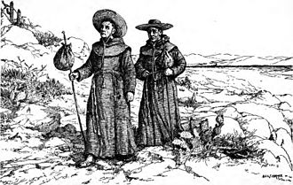 California Genocide - Image: Franciscan missionaries in California