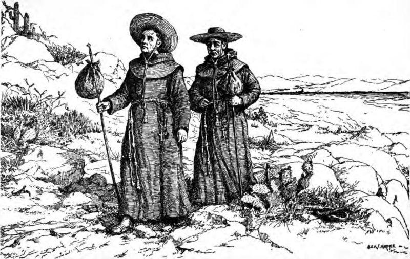 http://en.wikipedia.org/wiki/File:Franciscan_missionaries_in_California.jpg