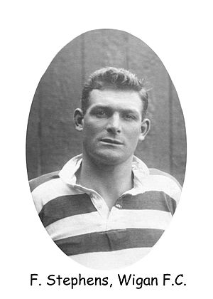 Frank Stephens (rugby league) - Image: Frank Stephens Wigan FC