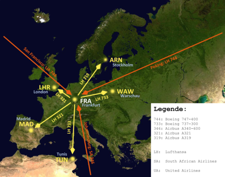 Flugrouten Karte Weltweit Lufthansa.Luftfahrt Drehkreuz Wikipedia
