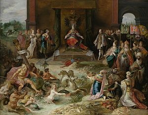 Frans Francken the Younger - Allegory on Emperor Charles V's abdication in Brussels
