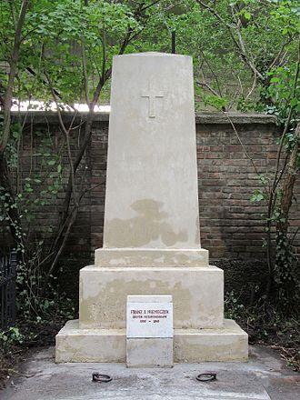 Franz Xaver Niemetschek - Niemeczek's grave, Vienna