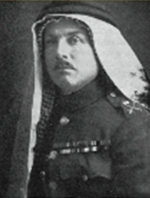 Frederick Peake - Peake wearing traditional Jordanian Keffiyeh