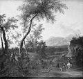 Frederik de Moucheron - Landscape with Huntsmen - KMSsp675 - Statens Museum for Kunst.jpg