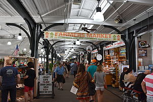 French Market - Inside the open-air market space north of Ursulines Street