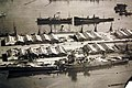 French battleship Jean Bart disclosing damage near the bow and stern, Casablanca, 1942 (26688233433).jpg