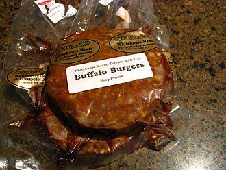 Buffalo burger - Frozen buffalo burger patties