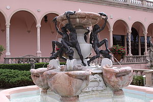 John and Mable Ringling Museum of Art - Fountain of the Tortoises in the Courtyard of The John and Mable Ringlin Museum of Art is a modern copy of the sixteenth-century fountain by the Italian Jacopo della Porta