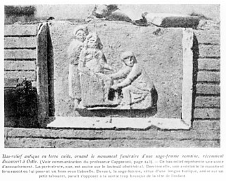 Children of ancient Rome - Funeral monument of a Roman mid-wife