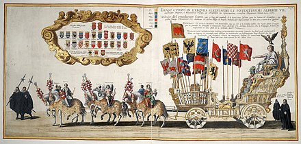 Funeral procession for the Archduke. Funerals Albert VII, Archduke of Austria (1623) Funeral procession for Albert VII, Archduke of Austria.jpg