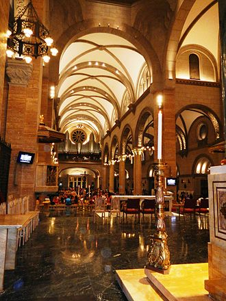 Ambrose Agius - The interior of the Cathedral-Basilica of the Immaculate Conception, where the body of Monsignor Ambrose Agius was interred in the underground crypt until 1945