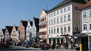 Günzburg - Market place.