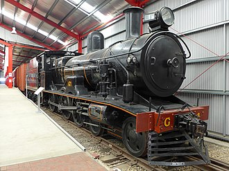 Commonwealth Railways G class - Preserved G1 at the National Railway Museum in April 2014