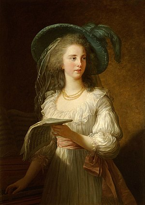 Yolande de Polastron - A more formal portrait of the Duchesse de Polignac by Élisabeth Vigée-Lebrun