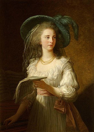 Governess of the Children of France - Yolande de Polastron, by Madame Vigée Le Brun.