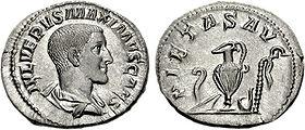 Gaius iulius verus maximus denarius 236