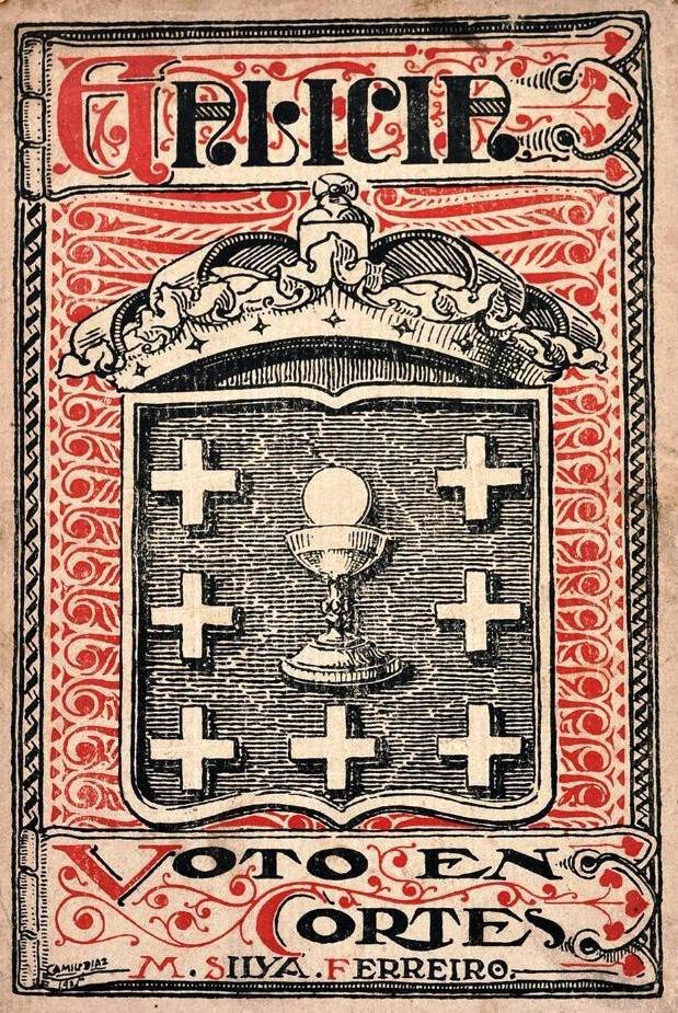 Galicia, voto en cortes de Manuel Silva Ferreiro, Santiago, 1925