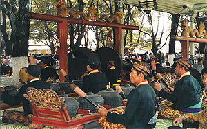 Gamelan - Javanese gamelan being played in Surakarta, Central Java.
