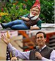 Garden gnome and Rick Santorum in sweater vests.jpg