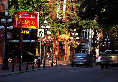 Gastown - the original townsite of Vancouver and now the best place to find Vancouver kitsch