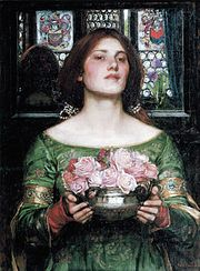 Gather Ye Rosebuds While Ye May, by John William Waterhouse, (1908)