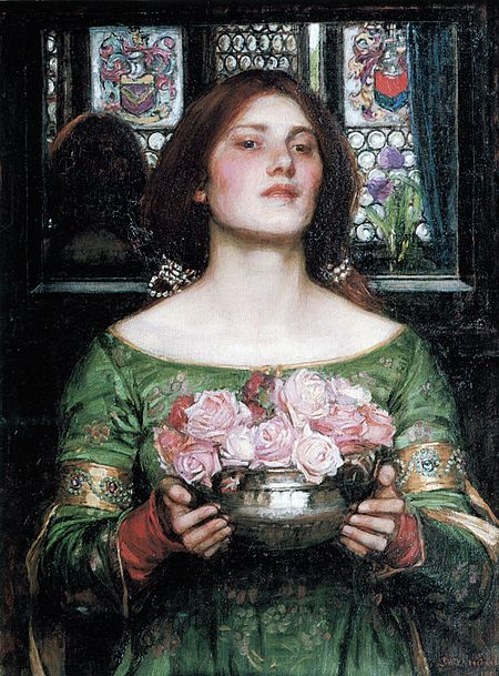 Gather Ye Rosebuds While Ye May - John William Waterhouse - 1908