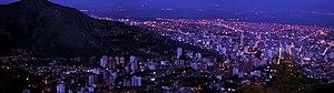 Metropolitan areas of Colombia - Image: Gatonegro Cali Noche desde Cristo Rey