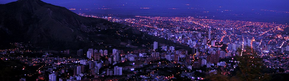 A panoramic showing of Cali, main city in western Colombia, where salsa is very popular.