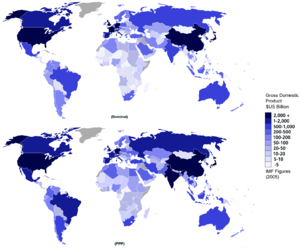CIA World Factbook 2008 figures of total nomin...