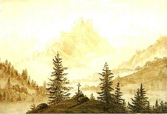 Cross in the Mountains - Image: Gebirgslandschaft