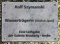 Gedenktafel Spandauer Damm 130 (Westend) Wasserträgerin&Rolf Szymanski&1980.jpg