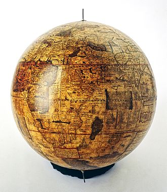 Gemma Frisius - Gemma Frisius's famous 1536 terrestrial globe. The green area is Madagascar.