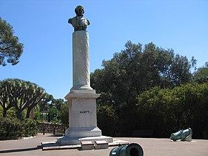 Gibraltar Botanic Gardens - Image: General Eliott bronze bust in the Gibraltar Botanic Gardens