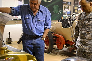 Jay Leno's Garage - Leno examines the U.S. Army 's fuel-efficient FED Alpha along with General Dennis L. Via.